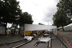 Timo Scheider, ABT Sportsline, Audi A5 DTM; Adrien Tambay, Audi Sport Team Abt, Audi A5 DTM
