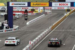 Adrien Tambay, Audi Sport Team Abt, Audi A5 DTM; Bruno Spengler, BMW Team Schnitzer, BMW M3 DTM