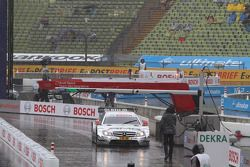 The cars sit on the pit road prior to the Sunday Final Mattias Ekström, Team HWA AMG Mercedes, AMG M