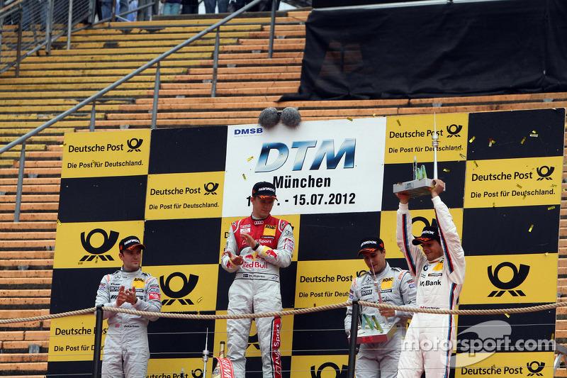 Podium: second place Jamie Green, Team HWA AMG Mercedes, AMG Mercedes, first place Mattias Ekström,
