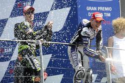 Podium: race winner Jorge Lorenzo, Yamaha Factory Racing, third place Andrea Dovizioso, Yamaha Tech