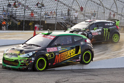 Ken Block and Stephan Verdier race for position