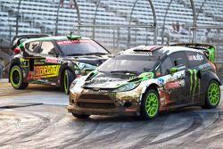 Ken Block en Stephan Verdier race for position