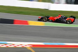 Timo Glock, Marussia F1 Team enters pit stop
