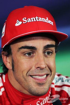 Pole: Fernando Alonso, Scuderia Ferrari FIA basın toplantısı