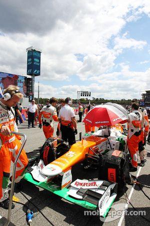 Sahara Force India F1 of Paul di Resta, Sahara Force India on the grid