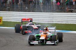 Nico Hulkenberg, Sahara Force India F1 ve Jenson Button, McLaren