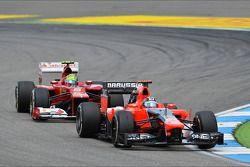 Timo Glock, Marussia F1 Team ve Felipe Massa, Ferrari