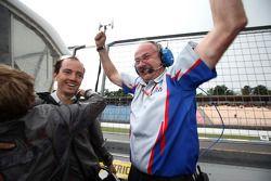 Jenzer Motorsport team members celebrate