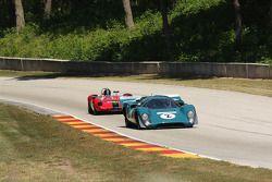 #2 1969 Lola MkIIIB : Johan Woerheide #76 1965 Lotus 23C: John Weinberger
