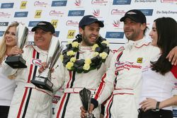 Silverstone Celebrity Challenge podium