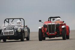 #450, 1953 MG TD, Mike Barstow & #37, 1959 MG A, David Good