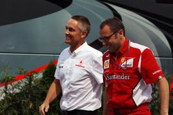 Martin Whitmarsh, McLaren Chief Executive Officer and Stefano Domenicali, Ferrari General Director l