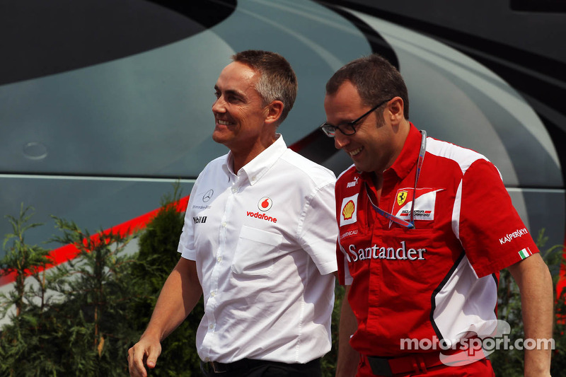 Martin Whitmarsh, Director Ejecutivo de McLaren y Stefano Domenicali, Director General de Ferrari de