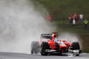 Timo Glock, Marussia F1 Team in the wet