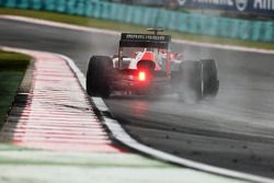 Timo Glock, Marussia F1 Team catches a slide wet