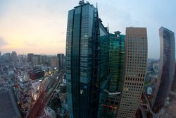 Una vista del distrito de Shiodome en Tokio