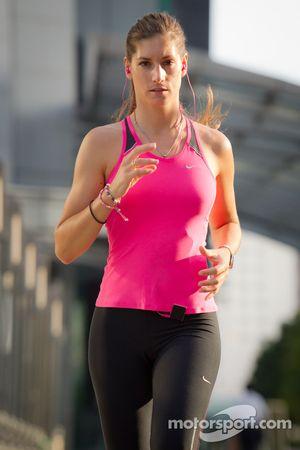 Workout sessie voor Cyndie Allemann