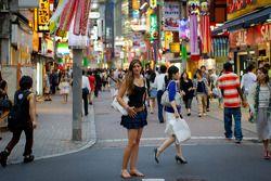 Cyndie Allemann visits Shibuya