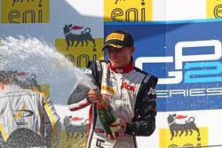 Podium: race winner Max Chilton