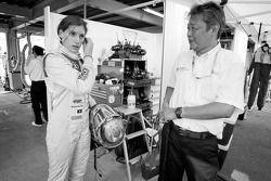 Cyndie Allemann with her engineer