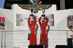 Podium: winnaars Alex Popow, Sébastien Bourdais