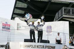 GT podium: winnaars Andy Lally, John Potter