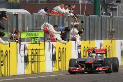 Lewis Hamilton, McLaren Mercedes takes the win