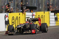 Romain Grosjean, Lotus Renault F1 Team takes third place