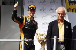 Podium: third place Romain Grosjean, Lotus Renault F1 Team