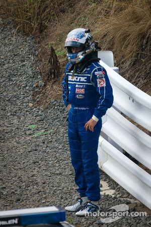 Joao Paulo de Oliveira not happy after the start crash