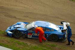 #12 Team Impul Nissan GT-R after the start crash