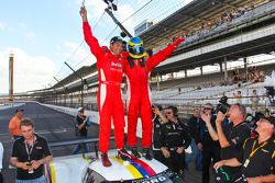 Race winnaars Alex Popow, Sébastien Bourdais