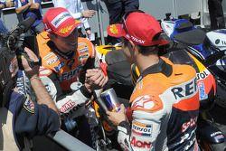 Winnaar Casey Stoner, Repsol Honda Team, derde Dani Pedrosa, Repsol Honda Team