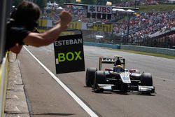 Esteban Gutierrez takes the win