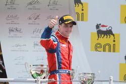 Podium: third place Luiz Razia
