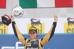 Podium: race winner Esteban Gutierrez