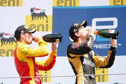 Podium: race winner Esteban Gutierrez, second place Nathanael Berthon