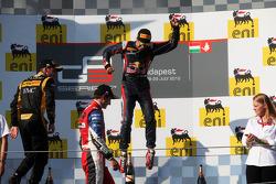 Podium: race winner Antonio Felix da Costa celebrates