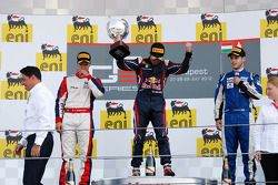 Podium: race winner Antonio Felix da Costa, second place Patric Niederhauser, third place Tamas Pal