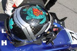 Richard Bradley's helmet