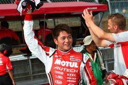 Michael Krumm and Satoshi Motoyama, second fastest in GT500 qualifying