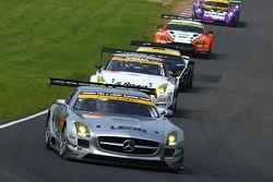 #52 Green Tec & Leon Racing Team Mercedes-Benz SLS AMG GT3: Hironori Takeuchi, Haruki Kurosawa