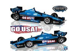 Специальная раскраска Sarah Fisher Hartman Racing, особое событие.
