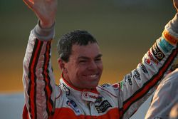 Race winner Craig Lowndes celebrates