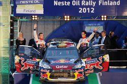 Podium: Thierry Neuville and Nicolas Gilsoul, Citroën Junior World Rally Team