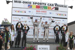 P1 podium: winners Lucas Luhr, Klaus Graf, second place Guy Smith, Chris Dyson, third place Michael Marsal, Eric Lux