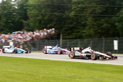 Start van de race: Will Power, Team Penske Chevrolet Dario Franchitti, Target Chip Ganassi Honda Sim