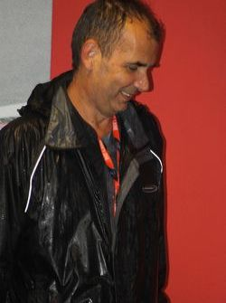 Marcus Simmons of Autosport gets a soaking