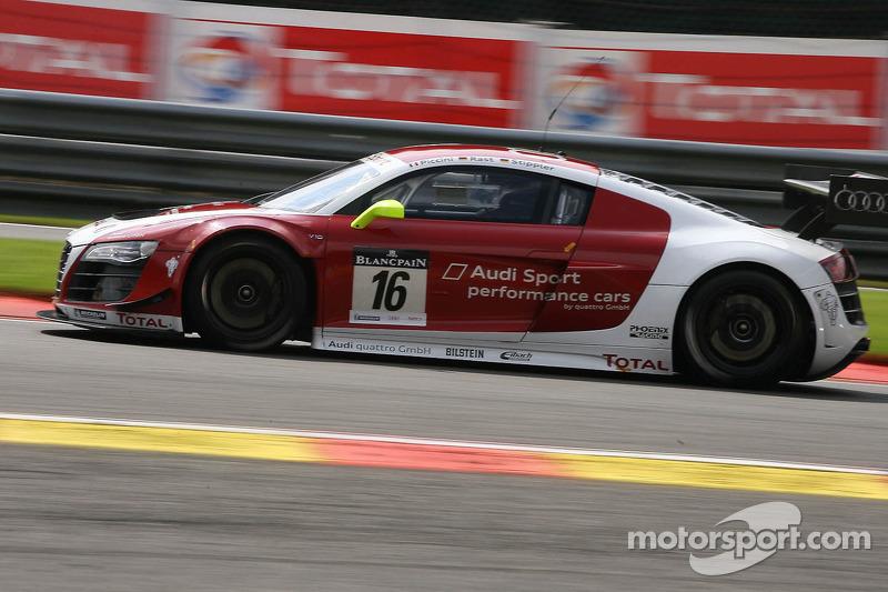 #16 Audi Sport Team Performance, Audi R8 LMS ultra: Andrea Piccini, Rene Rast, Frank Stippler